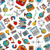 Science and knowledge symbols wallpaper Stock Image