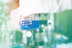 Science lab with chemical theme Royalty Free Stock Photography