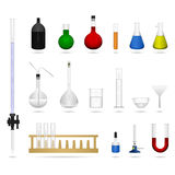 Science lab equipment tool. A set of science lab equipments and  tools in color Royalty Free Stock Photos