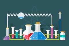 Science lab icons isolated vector set Stock Image