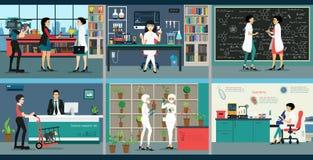Science lab royalty free illustration