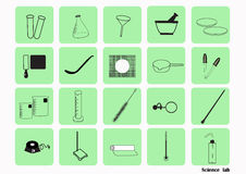 Science lab Vector Icon Set,chemical  icons set,Chemical Laboratory, chemical glassware. vector illustration Royalty Free Stock Image