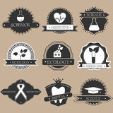 Science labels Royalty Free Stock Photography