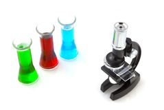 Science in the laboratory Royalty Free Stock Photos