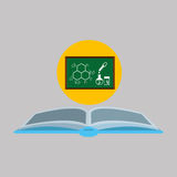 science and laboratory board icon Royalty Free Stock Photo
