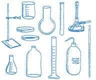 Science laboratory equipment  - doodle style Stock Photo