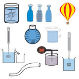 Science laboratory equipment vector. Science laboratory equipment on white background Royalty Free Stock Photography