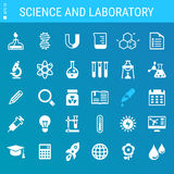 Science and Laboratory icon set Stock Images