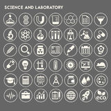 Science and Laboratory icon set Stock Photography