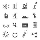 Science and laboratory icons Stock Photography