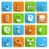 Science Laboratory Icons Set Royalty Free Stock Images
