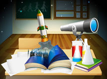 A science laboratory. Illustration of a science laboratory Royalty Free Stock Images