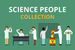 Science laboratory radiation biology vector people Stock Photos