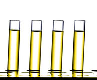 Science laboratory research, test tubes Royalty Free Stock Images
