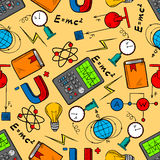 Science laboratory seamless pattern background Royalty Free Stock Image