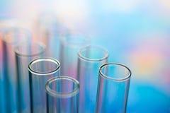 Science laboratory test tubes , laboratory equipment stock photography