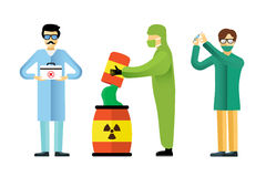 Science laboratory vector people set Stock Photo
