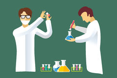 Science laboratory vector people set Stock Photography