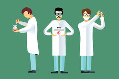 Science laboratory vector people set Stock Image