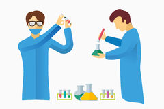 Science laboratory vector people set Royalty Free Stock Photo