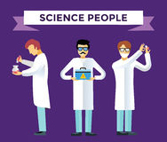 Science laboratory vector people set Royalty Free Stock Image