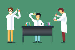 Science laboratory vector people set Royalty Free Stock Images
