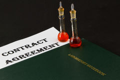 Science Leads to Successful Contracts Stock Photography