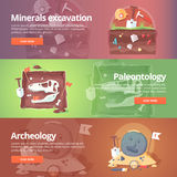 Science of life. Minerals excavation. Paleontology. Stock Photo