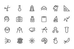 Science Line Vector Icons 4 Stock Photography