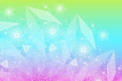 Sacred geometry symbols and elements background royalty free illustration