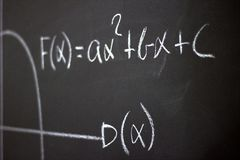 The science of mathematics Royalty Free Stock Photography