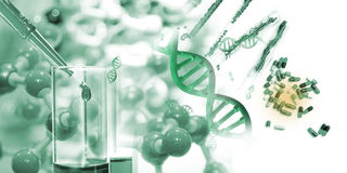 Science and medical background. Stock Photography