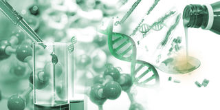 Science and medical background. Stock Images