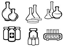 Science and medical flasks Royalty Free Stock Image