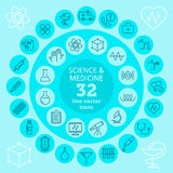 Science & Medical icons Royalty Free Stock Images