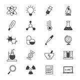 Science and Medical Icons Line Royalty Free Stock Photography