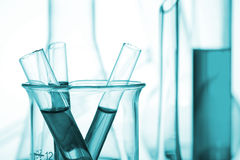 Science and medical research test tubes Royalty Free Stock Photos