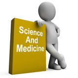 Science And Medicine Book With Character Shows Medical Research Stock Photo