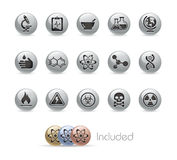 Science // Metal Button Series Stock Photos