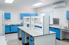 Science modern lab interior architecture. Royalty Free Stock Images