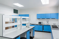 Science modern lab interior architecture. Royalty Free Stock Image