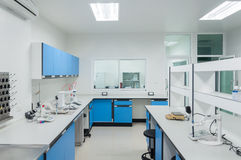 Science modern lab interior architecture. Royalty Free Stock Photo
