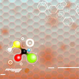 Science molecule background. Chemical structure. Scientific technology vector background stock illustration