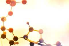 Science Molecule DNA Model Structure, business teamwork concept.  royalty free stock images
