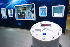 Science museum. The indoor booth of Shanxi Science and Technology Museum Stock Photo