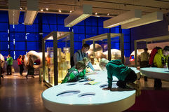 Science museum, London, UK. Interactive galleries.Explosions, bubbles, electric shocks and of course buttons – our interactive galleries give you the chance to Stock Image