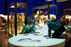 Science museum, London, UK. Interactive galleries.Explosions, bubbles, electric shocks and of course buttons – our interactive galleries give you the chance to Stock Images