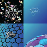 Science and nano technology background Stock Photo