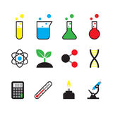 science object icon set Royalty Free Stock Photo