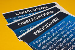 Science Papers Royalty Free Stock Image